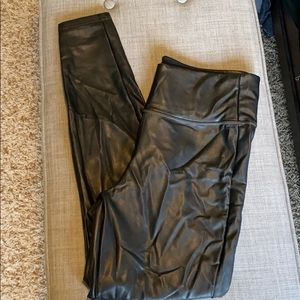 Athleta Leather Look Leggings